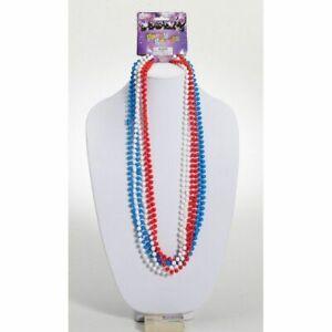 Forum Novelties 67715 Red, White, Blue Metallic Beads, Color, Multi, Pack Of 1