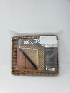 Oriental Weavers Outdoor Rug Pad 4' x 6'  New In Package Brown