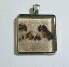 Vintage Cavalier King Charles Spaniel Dog crystal pendant charm by mydogsocks