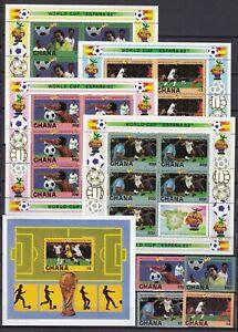 Ghana 945/952+Block 97 postfr./mnh Fußball soccer 1982