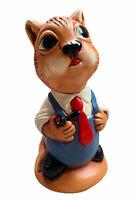 Curravordy Artware Red Squirrel Ireland 1979 Hand Painted Stoneware Figure