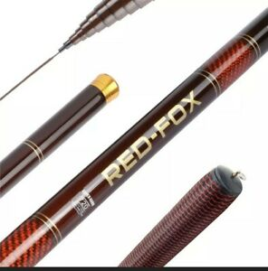 Telescopic Fishing Hand Pole - Carbon Fiber - Great for Pier and River Fishing
