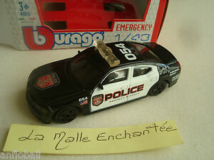 Hauler Charger 2006 Police USA 1/43° B Burago IN Box