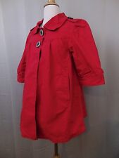 LAL Live a Little Short Sleeve 2 Button Jacket Red Size Small #2372