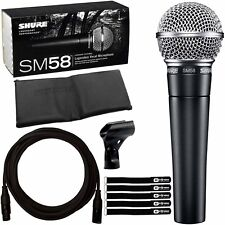Shure Sm58 Multi-purpose DJ Event Vocal Performance Microphone Cable Pack