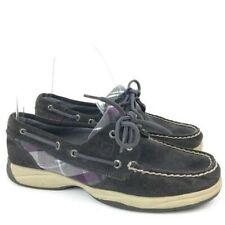 Sperry Top Sider Womens Flats Size 5.5 Multicolored Suede Boat Shoes