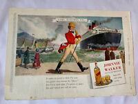 Vintage London News Advert Rover 75 Johnnie Walker Scotch Whisky Ephemera 1949