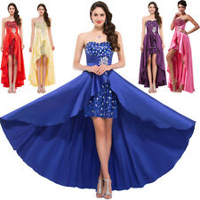 2017 hi lo Formal Party Dress Short Long Evening WEDDING Ball Gown Prom Dresses