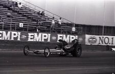 Front Engine Dragster Race Scene - EMPI Sign - Vintage 35mm Race Negative