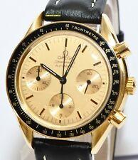 Omega Speedmaster 750er Gold Chronograph Glas Boden 1140
