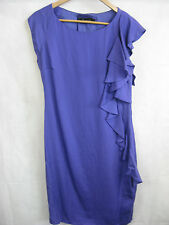 David Lawrence Size 10 Purple Ruffled Dress - Classy and Chic