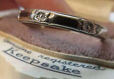 14K KEEPSAKE VINTAGE ANTIQUE ART DECO FLORAL WEDDING ETERNITY BAND RING