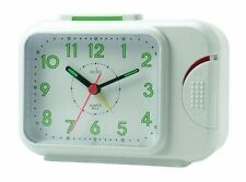 Acctim Sonnet Alarm Clock In White - Easy Read Face - Free 1st Class Delivery