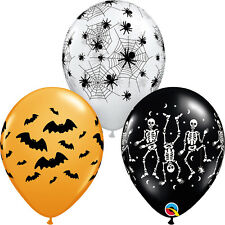 "HALLOWEEN PARTY SUPPLIES BALLOONS 10 x 11"" QUALATEX SPOOKY ASSORTMENT BALLOONS"