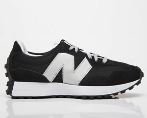 New Balance 327 Men's Black Silver Athletic Casual Low Lifestyle Sneakers Shoes