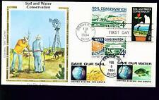 1984 FDC - Scott# 2074 COMBO - Soil & Water - Colorano Silk Cachet   UA