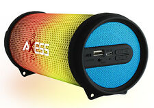 Axess Dancing LED Lights HiFi Bluetooth Rechargeable Speaker (Blue) SPBL1043BL
