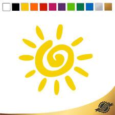 Aufkleber Sticker Autoaufkleber Auto Sonne Sonnenschein 10 x 9,5 cm
