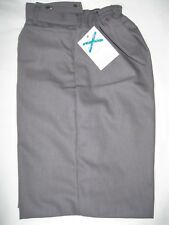 "Boys MID GREY W32""/8"" Leg 50's Style School Shorts With Nylon Lining NEW 24/03"