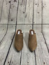 NEW Steve Madden Cognac Brown Suede Dilly Mules US7