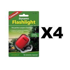 Coghlan's Dynamo Flashlight LED Hand Crank Emergency Light w/Clip (4-Pack)