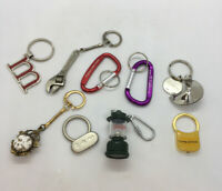 Lot Of 9 Vintage Collectible Mixed Key Chain Keychains  Coleman , Fortune 500