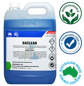 BACLEAN 5 Litre Toilet Bowl & Bathroom Cleaner - Antibacterial, Scale Remover 5L