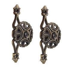 Pair of Vintage Flower Curtain Tiebacks Tie Backs Buckle European Bronze