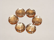 Strass scrapbooking a coudre★LOT DE 5 - Beige rond-1 cm (10mm) ★Neuf