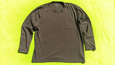 Dickies Long Sleeve Activewear Work Shirt Army Green Xl Polyester