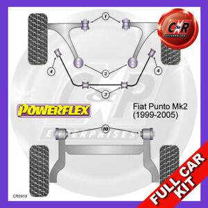 Fits Fiat Punto MK2 (1999 - 2005)  Powerflex Complete Bush Kit