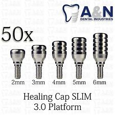 50 Regular Healing Cap for Slim 3.0 mm platform  dental Implant Free Ship