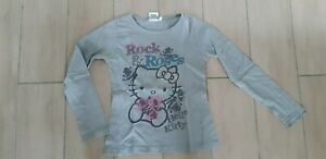 Joli T-shirt gris Hello Kitty, taille 8 ans, bon état