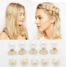 Chic Women Metal Star Rotated Hairpin Barrettes Hair Clips Hair Accessories New