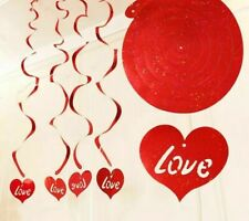 Hanging Spiral Valentine And Wedding Love Heart Shape Letter Pattern Party Decor