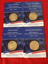 Proof Coins-2007 S $1 Presidential-Washington Madison Adams Jefferson