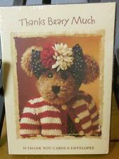 """Boyds Bears Sealed Box of 10 Thank You Notes """"Thanks Beary Much"""""""