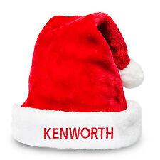 Kenworth Trucks Red & White Christmas Holiday Santa Hat