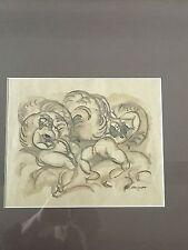 Bruno Krauskopf 1892-1960/Frauenakt datiert 1913/Federzeichnung/Gouache