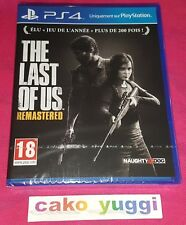 THE LAST OF US REMASTERED SONY PS4 NEUF SOUS BLISTER VERSION FRANCAISE