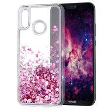 COVER Custodia Glitter Morbida Silicone STRASS Gel per Huawei P20 LITE Rosa