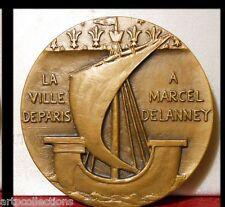 1915 MEDAILLE ANCIENNE BRONZE PREFET DE LA SEINE PARIS DELANNEY