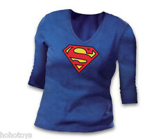 Supergirl Symbol III 3/4 Sleeve Women T-Shirt MED Size