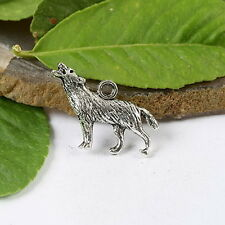 10pcs cute Tibetan silver wolf charms findings h1113