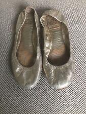 Tory Burch Ballet Flats Pumps Shoes Gold Size 38 5 8M US