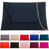Envelop Suede Wedding Ladies Party Prom Evening Clutch Hand Bag Purse HandBag