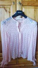 Blusa, camicia Mango, taglia M, chiffon rosa a pois, da 25 euro a 13