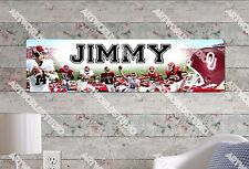 Personalized/Customized Oklahoma Sooners Name Poster Wall Art Decoration Banner