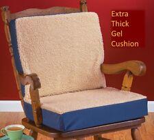 Orthopedic Gel Dual Cushion Fleece Topped Wheelchair Padding Chair Seat Comfort