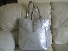 LAURA ASHLEY Sparkly Silver Large Faux Leather Tote Shopper / Shopping Bag